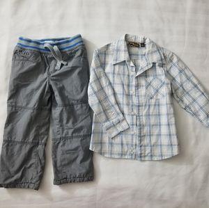Kids Boys 3T Pants and Long Sleeve Shirt
